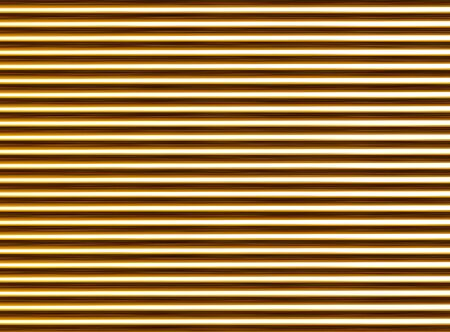 corrugated golden abstract background. horizontal tubes texture ribbed pattern light