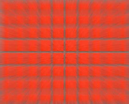 concrete surface finishing: red brick wall stripes gray zoom effect, hitting camera. Blurred background with clear lines in the middle of the square texture duplexing