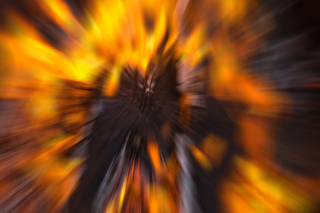 natural fire blur effect speed approximation. bonfire orange bright background Stock Photo