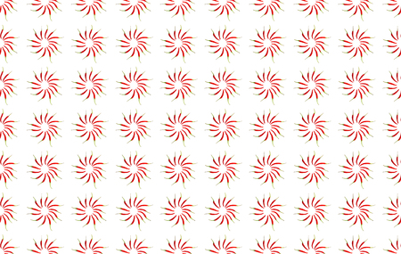 chili pepper pattern stacked in a circle infinite spice pattern background