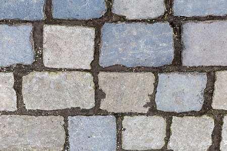 stone surface many cobblestone lines cement rectangular light beige gray pattern weathering hard surface