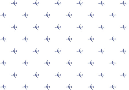 silhouette pattern airplane dark blue on white background endless series repetition of icons base design