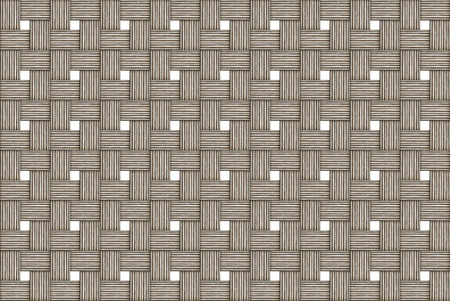 beige weathered cloth wooden woven background light monochrome woven with white squares windows infinite row Reklamní fotografie