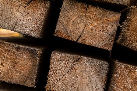 wooden block end macro base design web site construction background Imagens