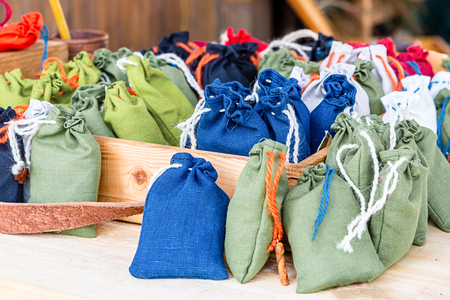 many pouch canvas blue green olive white tray healer medicinal herbs