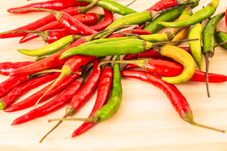 background fresh ripe chilli red green pod many ingredient salsa sauce