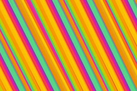 beautiful pink orange yellow mint purple background abstract parallel stripes oblique Stock fotó