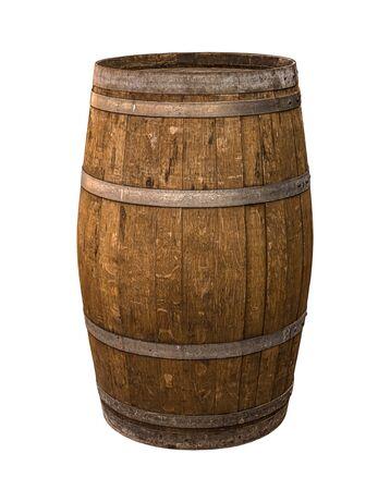 oak brown barrels wooden steel gray hoops traditional wine aging production winemaking