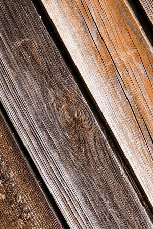 wooden pattern consists of inclined boards light brown closeup Imagens