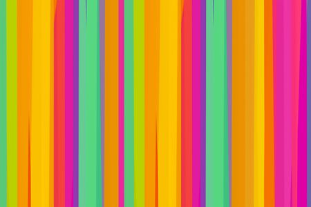 parallel pattern bright stripes vertical yellow, orange, pink and mint art design basis background