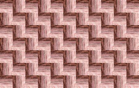 wooden pattern light brown texture wooden volumetric background interlaced 스톡 콘텐츠 - 132911737
