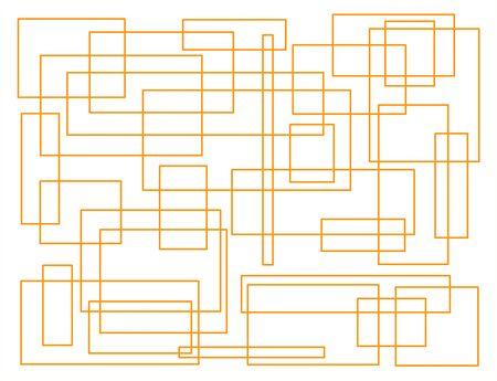 abstract background design geometric rectangle orange chaos figure many basis Фото со стока