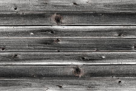 gray stained wooden background horizontal boards knotted old base natural