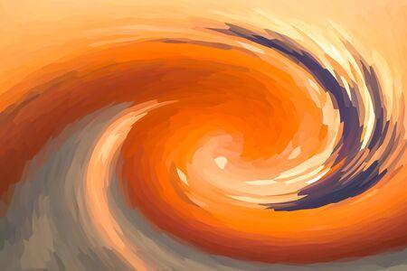 autumn design orange paints movement tornado geometric pattern inks art basis