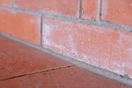 brick wall close-up plano gray lines angle part background building