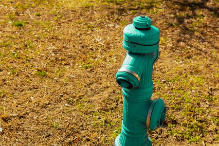 Green iron hydrant - traditional fire extinguishing