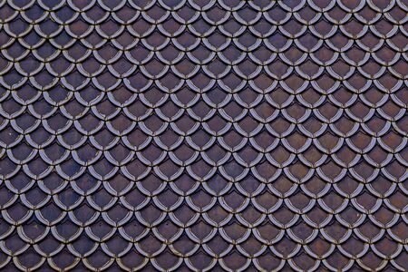 abstract metal pattern dark lilac texture fish scales, a lot of semicircular plates