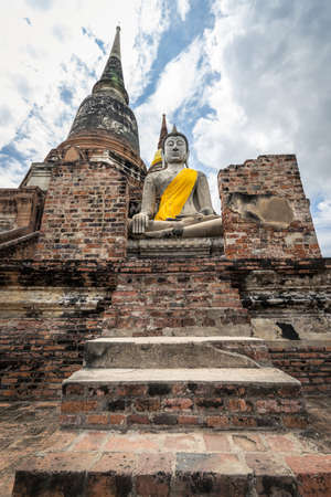 Buddha statue Wat Yai Chaimongkol, Ayutthaya, thailand