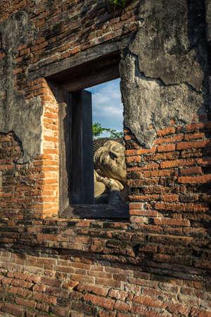 Buddha at the ancient capital of Ayutthaya thailand