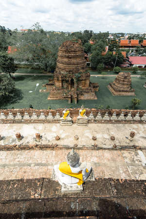 Wat Yai Chaimongkol, Location cultural organization UNESCO, which has been registered as a wold Heritage in Ayutthaya, Thailand