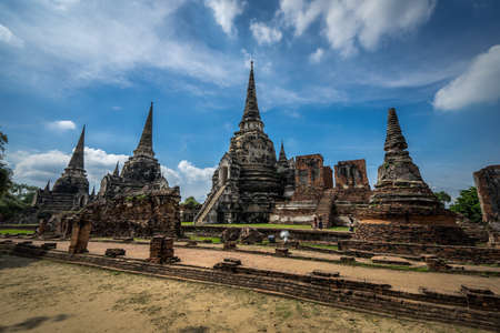Wat phra Sri Sanphet was the most important temple in Ayutthaya,thailand