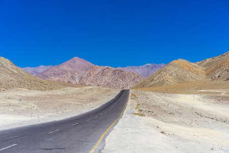 Magnatic hill road to leh ladakh india Stock Photo