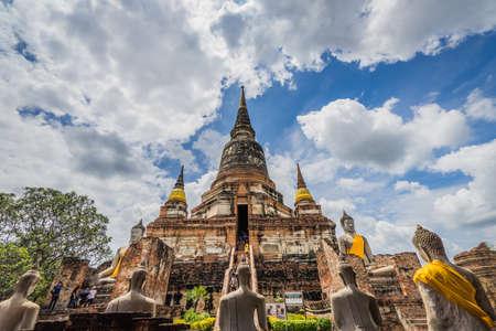 Wat yai chaimongkol ,Old Temple of Ayuthaya, thailand