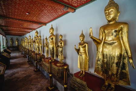 Big Buddha gold statue, Closeup golden buddha, Wat Pho at Bangkok, Thailand. 報道画像