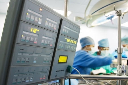 Cardiac surgery with cardiopulmonary bypass monitor photo