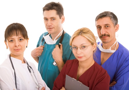 successful medical team on white background Stock Photo - 9338692
