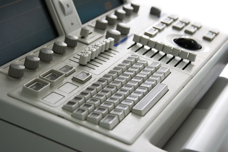 ultrasound medical device keyboard with focus on centre Stock Photo - 9397501
