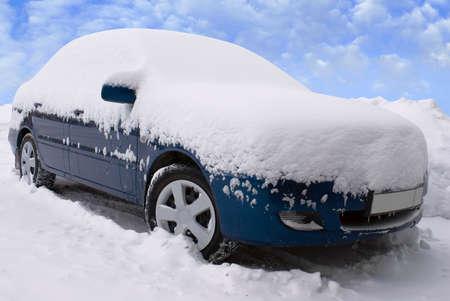 car after abundant snowfall