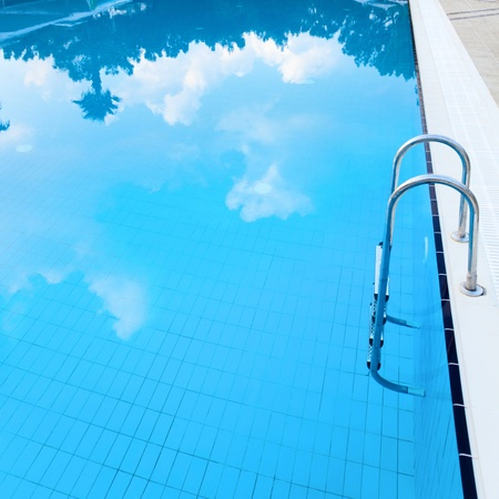 Swimming pool with cloud