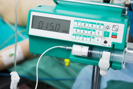 syringe pump: intravenous anesthetic transfusion in operating-room
