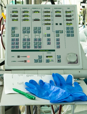 monitor for circulation bypass device after cardiac surgery in intensive care unit photo