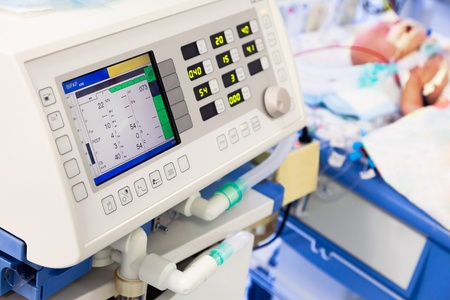 Artificial lung ventilation in pediatric ICU