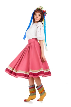 Young woman in traditional Ukrainian costume Stock Photo - 20413009