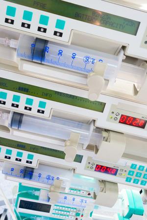syringe pump: Syringe pumps in intensive care unit
