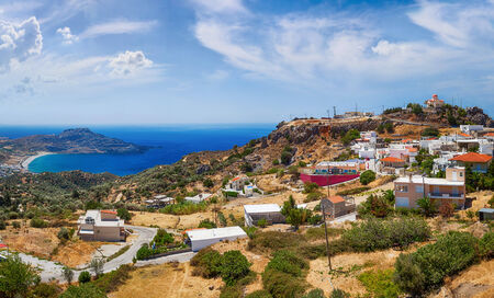 Crete island in summer. Panoramic view.  photo