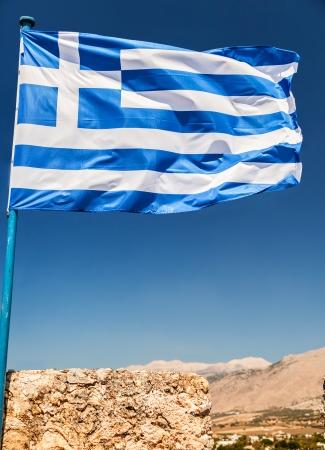 blu: Greek Flag in the Blu Sky