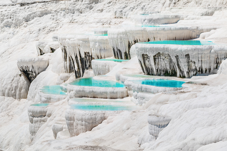 Pamukkale travertine pools in Turkey