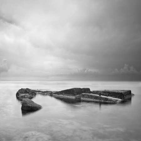 seascape with rocks Stock Photo