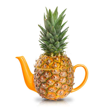 Concept yellow pineapple tea  photo