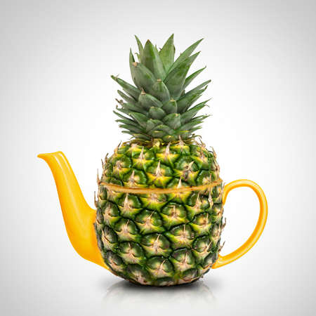 Concept green pineapple tea  photo