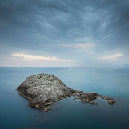 Minimalist misty seascape