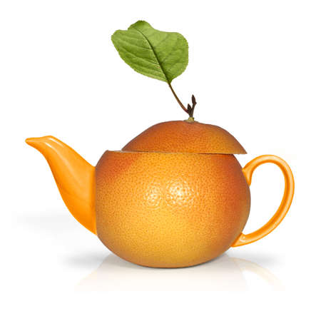 Concept orange tea photo