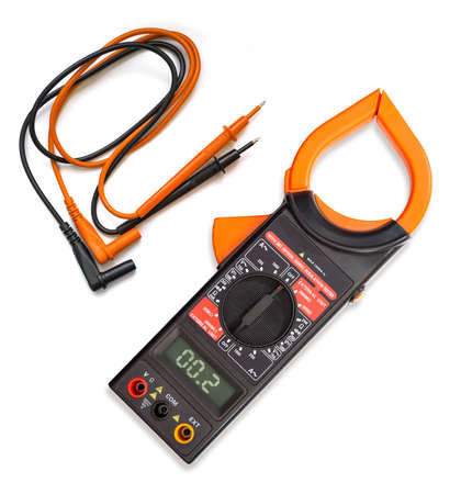 Multimeter, tester isolated on the white background photo