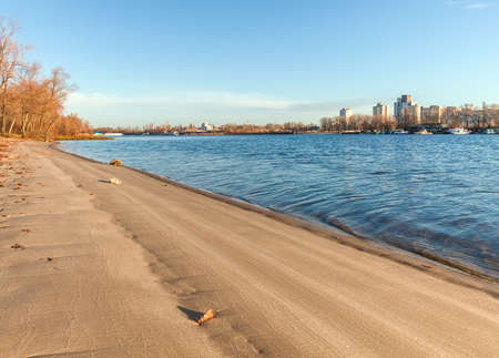 View of Dnieper river in Kiev, Ukraine photo