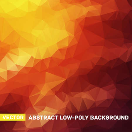 Vector abstract polygonal red and yellow background Stock Photo