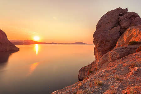 Amazing sunrise over the sea